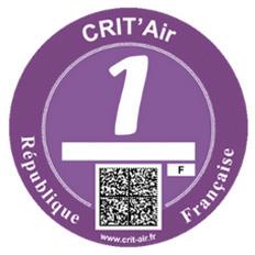 Vignette crit'Air 1