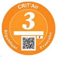 Vignette Crit'Air 3